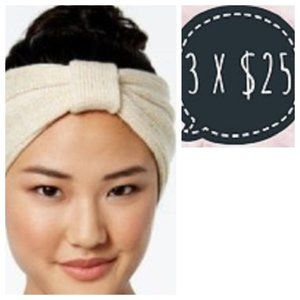 Steve Madden All That Shines Cable Knit Headband